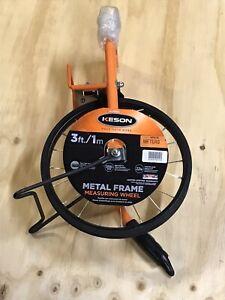 Keson MP301M Metric Professional Measuring Marking Wheel 1M Spoked 99,999M