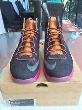 Nike Lebron X EXT Denim QS Denim Navy Fireberry 597806 400 Sz 11.5