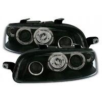 Fiat Punto Mk2 1999-2003 Black Halo Angel Eye Projector Front Headlights Lights
