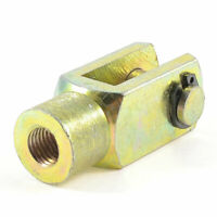 """1/8"""" PT Female to 3/8"""" NPT Male Thread Cylinder Rod Clevis End"""