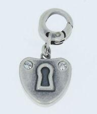 Charm Charms Anhänger von Fossil Herz mit Schlüsselloch 1 Farbe silber Edelstahl