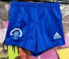 Rangers Fc Football Soccer Shorts Adidas Retro Vintage 90s Kids Boys size 24''
