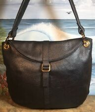BARR BARR New York Shoulder Bag Pebbeled Gold Hardware Excellent Used Condition