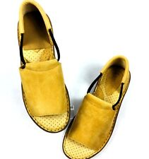 "MARSH LANDING Sz 10M Tan Leather Comfort Shoes, 3/4"" LIFT TO RIGHT HEEL"
