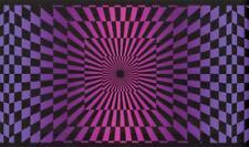 Black & Pink Funky Optic Wallpaper Border 60's Check Illusion Retro Wall Decor