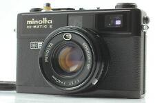 【Near Mint】 Minolta Hi  -  Matic E Black Rangefinder Film Camera from Japan
