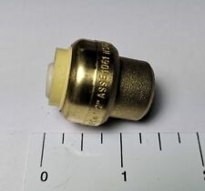 """10 PIECES 1/2"""" SHARKBITE STYLE PUSH FIT CAPS, LEAD FREE BRASS"""