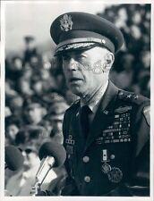 1973 US Army Major General Orwin Talbott Press Photo