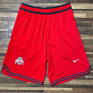Nike Mens Ohio State Buckeyes Basketball Shorts Medium Dri-Fit Standard Fit NWT