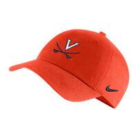 UNIVERSITY OF VIRGINIA V-SABRE Nike Heritage 86 Logo Adjustable Unisex Hat Orang