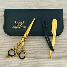 "Barber Hairdressing Scissor Hair Cutting 6.5"" Gold Edition Left Handed User Only"