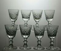 LEAD CRYSTAL CUT GLASS LIQUEUR SET OF 8