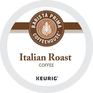 Barista Prima Italian Roast Coffee 24 to 144 Keurig K Cup Pods Pick Any Size