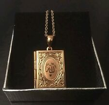 WOMENS ISLAMIC JEWELLERY NECKLACE GOLD PLATED QURAN LOCKET ARABIC ALLAH PENDANT