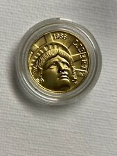 US 1986-W UNC. Statue of Liberty $5 PROOF GOLD COIN - .2418 oz .900 PURE GOLD!