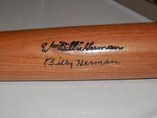 BILLY HERMAN AUTOGRAPHED BAT 1975 HALL OF FAME  FULL LETTER PSA # B25902