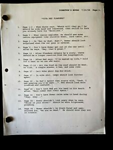 The Simpsons Production VIVA NED FLANDERS Voice Actor Script Copy 47 Pages