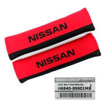 Set Seat Belt Cover Genuine Red For Nissan Navara Np300 Juke March 1985 2019