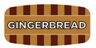"""Gingerbread Labels 1000 /RL Food Store Flavor Stickers .625"""" X 1.25"""""""