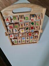 Lerne das ABC Spiel Holzspielzeug Lesen Buchstaben Holz Lernspiel Alphabet