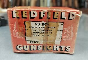 Vintage Redfield Receiver Sight No. 102W For Winchester 54-70 & Rem. 721-722