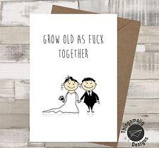 ENGAGEMENT WEDDING CARDS OCCASION Comedy Funny Humour Banter Congratulations /EZ