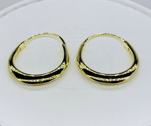 NWT AUTHENTIC PANDORA SHINE™ EARRINGS CHUNKY HOOP EARRINGS #268070