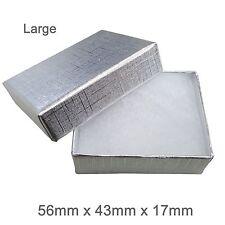 Caja de regalo de cartón de joyas de plata Cojín de algodón fuerte Caja de Joyería-más grande