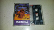 metallica music cassette creeping death / jump in the fire    rare cassette