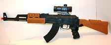BAMBINI GIOCATTOLO pistola AK47 SWAT AUTO ELETTRICA CON LUCI LAMPEGGIANTI suoni e vibrazioni 3 +
