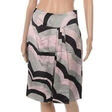 Silk A-Line Knee-Length Skirts for Women