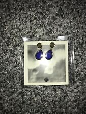NWT Anthropologie Drop Earrings Royal Blue
