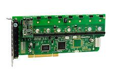 OpenVox A800P10 8 Port Analog PCI Base card + 1 FXS + 0 FXO, Ethernet (RJ45)