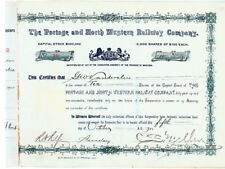 The Portage And North Western Railway Co. Signed By Charles  Mellen As President