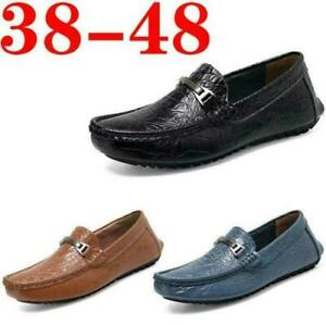 Men Fashion Casual Shoes Slip On Comfort Loafers Driving Moccasins Size 38-48 FL
