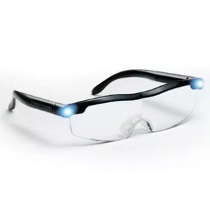 MIGHTY SIGHT LED MAGNIFYING EYEWEAR HD RECHARGEABLE GLASSES RETAIL BOX
