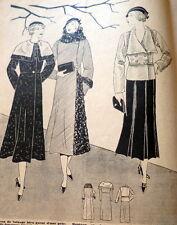 VTG 1930s PARIS SEWING PATTERN MAGAZINE LA FEMME CHEZ ELLE 1932 *PARIS DESIGNERS