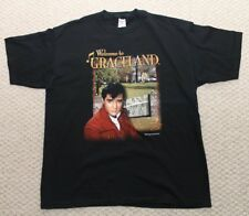 Elvis Presley Welcome to Graceland  / Thank You Very Much Mens T-shirt Black