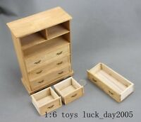 Toy Model WWII German Scene Wooden Locker / Bedstand 1/6