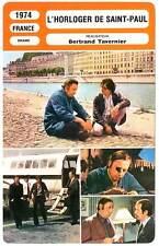 FICHE CINEMA : L'HORLOGER DE SAINT-PAUL - Noiret,Rochefort 1974 The Clockmaker