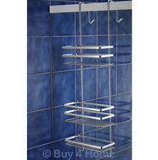 Satina 79cm Chrome Hanging 3 Tier Rectangular Shower Caddy - Basket Shelf Tidy