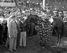 CITATION 1948 TRIPLE CROWN PREAKNESS EDDIE ARCARO 8x10 PHOTO