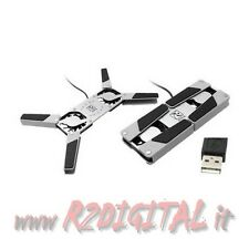 MINI DISSIPATORE LED NOTEBOOK NETBOOK USB RICHIUDIBILE TASCABILE PORTATILE