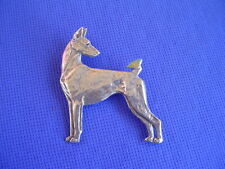 Doberman Pinscher Butterfly pin #29D Pewter Dog Jewelry by Cindy A. Conter