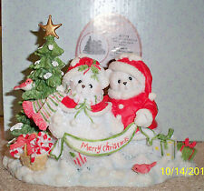 Cherished Teddies Rosie and Onnie Snow Bears Chris Love Excusive Le 2011 Signed