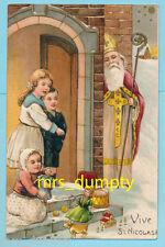 CHRISTMAS Santa Claus~Saint Nicholas Leaves Toys on Doorstep~PFB 6439 POSTCARD