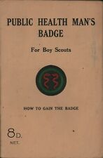 More details for the public health man's badge for boy scouts hymers, c. 1945 rev ed   c6.3460