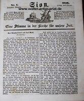 Sion kompletter Jahrgang 1846 katholische Zeitung 156 Stück Religion Theologie