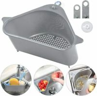 2PC Sink Drain Filter Basket Strainer Shelf Storage Rack Sponge Holder Organizer
