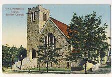 Vintage Postcard (1914) - First Congregational Church, Boulder Col - Posted 1802